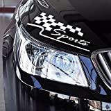 11.8-Inches Vinyl Auto Decal Checkered Racing Flag Bumper Sticker