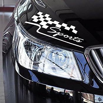 11.8-Inches Vinyl Auto Decal Checkered Racing Flag Bumper Sticker