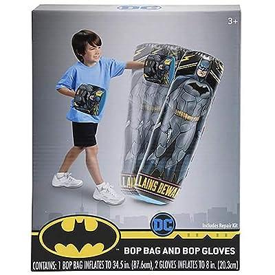 Fad Habit Licensed DC Comics Batman Inflatable Bop Bag and Bop Gloves Kids Punching Bag: Toys & Games