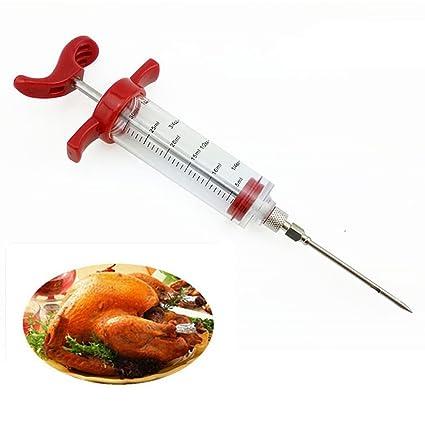Jeringuilla para carne, Lemonda inyector Picador de condimentos y especias, acero inoxidable, 2