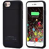 iSHAKO モバイルバッテリーケース ウルトラスリムバッテリーケースiPhone6/iPhone6s/iPhone7適用 4.7インチ3000mAh 一体型 (ブラック)