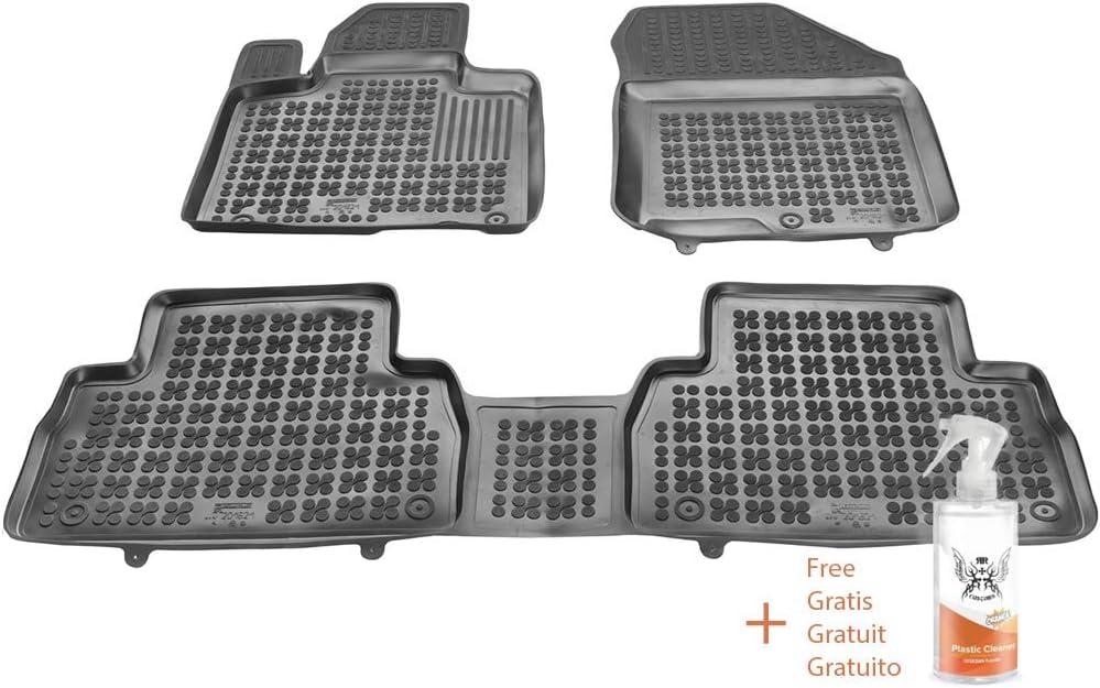 Regalo Alfombrillas de Goma Compatible con Hyundai Santa FE IV Desde 2018 + Limpiador de Plasticos