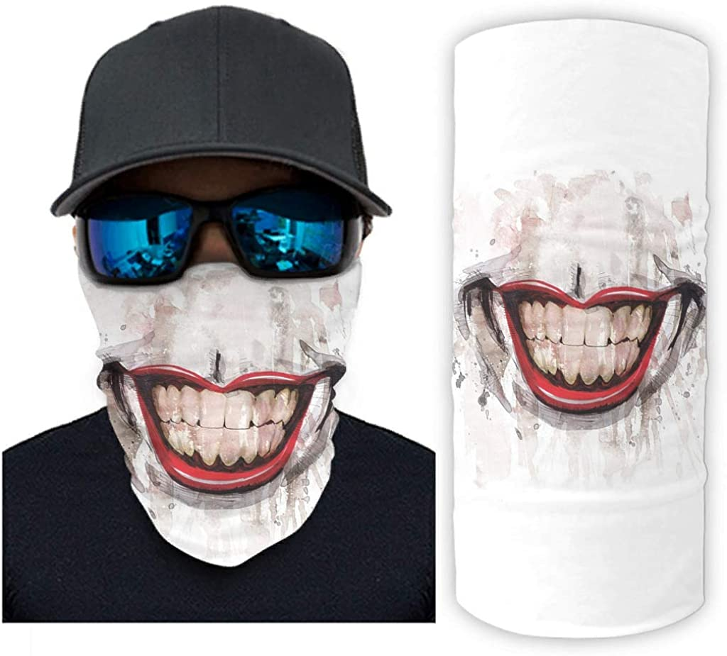 Creepy Smile Clown Face Print Bandana Face Mask Sun Protection Scarf Mask White Onesize At Amazon Men S Clothing Store Discover 51 free creepy smile png images with transparent backgrounds. creepy smile clown face print bandana
