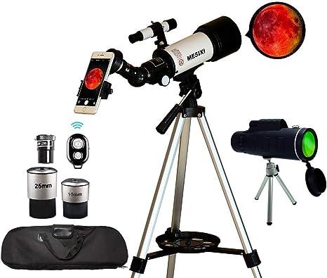 Telescopio astronómico + monocular con apertura de 70 mm ...