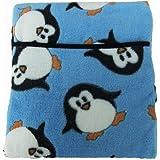 Bolsa de agua caliente para microondas, de la marca Hotties, con dibujo de pingüinos