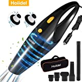 Car Vacuum Cleaner, Hoiidel 120w Powerful Suction Handheld Portable Auto Vacuum Cleaner, Wet and Dry Materials with 15…