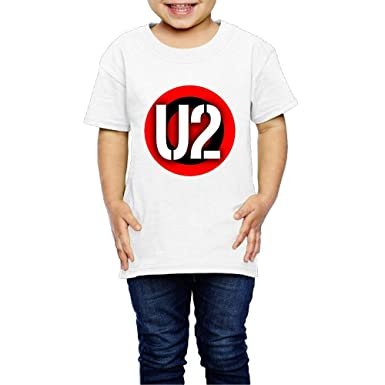 kongyii kids u2 band logo comfortable shirts