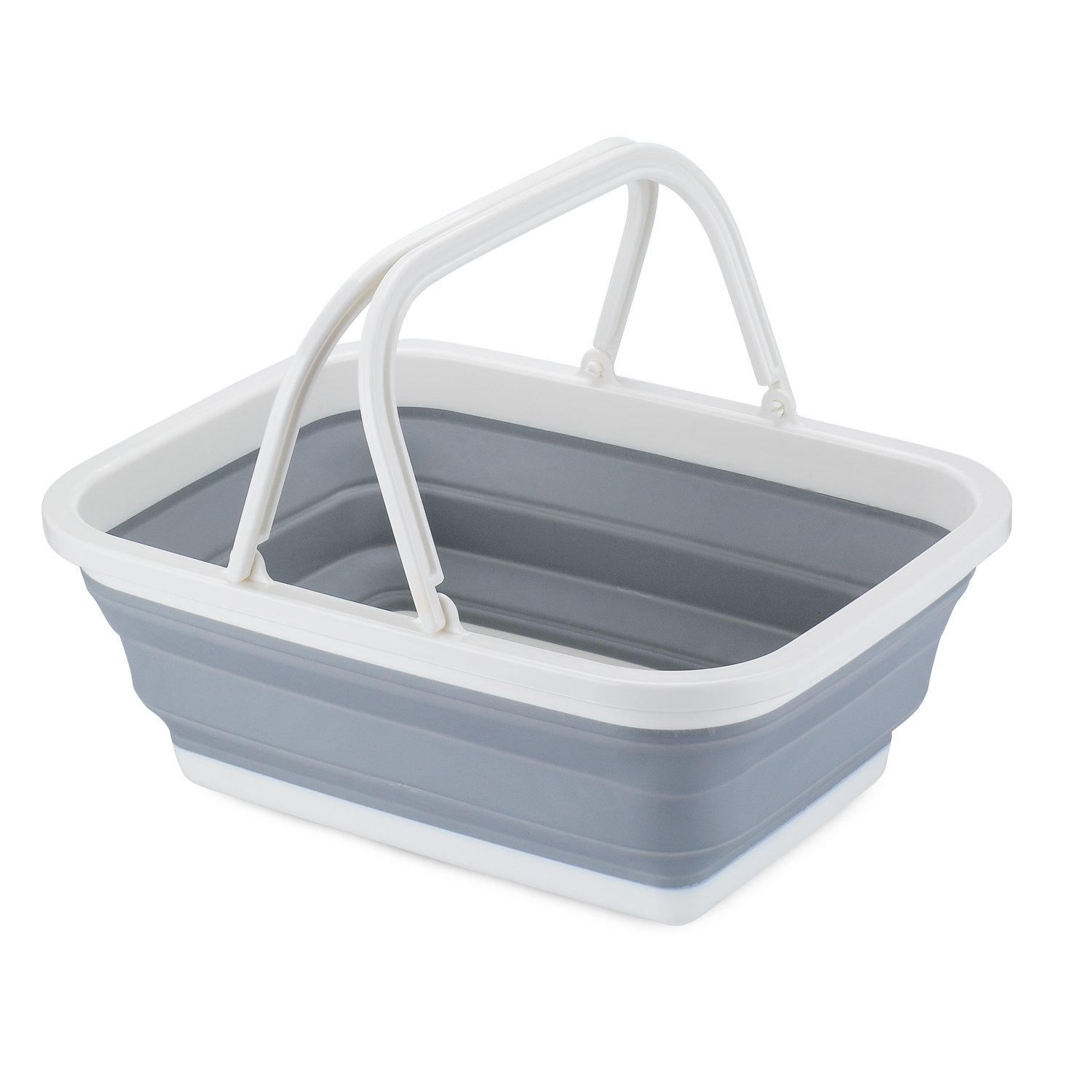 PerHomeAid Portable Collapsible Sink Storage Basket Wash Fruits And Vegetables,Kitchen Organizer Accessories Supplies Gear Items Stuff, Easy Storage with Double Handles