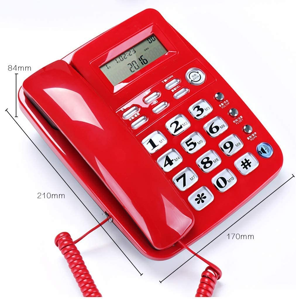 BMJ/&C Retro landline telephone,Telephone/_hands-Free Calling//Caller Id//One-Touch Transfer//Battery-Free//Merchant Dual-Use White