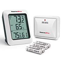 ThermoPro TP-60 Indoor Outdoor Thermometer Humidity Monitor with Temperature Gauge Humidity Meter, Wireless Digital Hygrometer, 200ft/60m Range (Batteries Included)