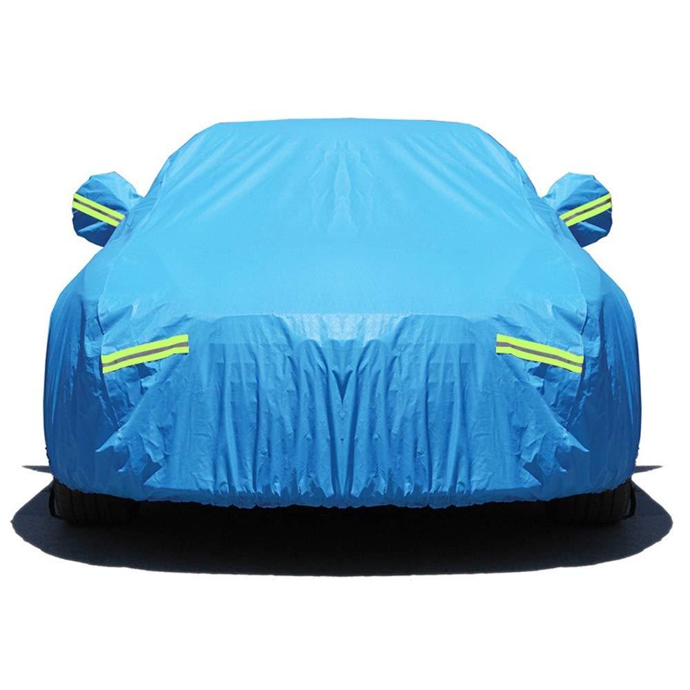 万全区孔家庄镇美衣社女装店 自動車用フルモデルカーカバー防水全天候用太陽紫外線防止ミラーポケットメッセージお問い合わせあなたの車のモデル (色 : ブルー)  ブルー B07R39S1V6