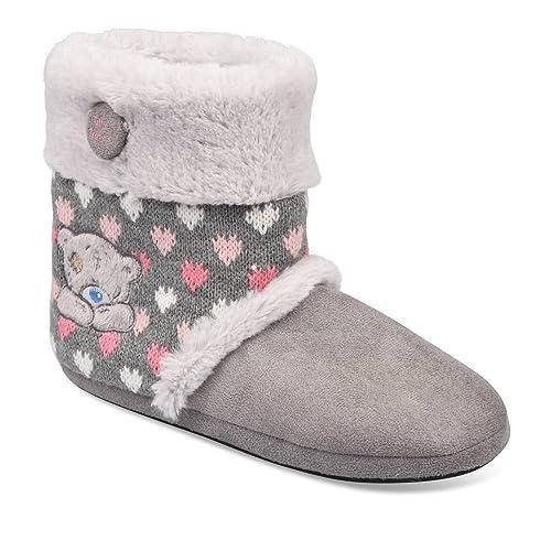 Me To You - Zapatillas de estar Por Casa de Material Sintético Mujer, Gris (Gris), 37: Amazon.es: Zapatos y complementos