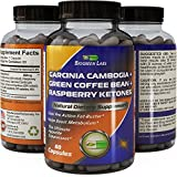 Garcinia Cambogia Weight Loss Supplement with Pure Green Tea + Green Coffee Bean + Raspbery Ketones - Diet Pills for Women & Men - Natural Carb Blocker Fat Burner Appetite Suppressant - Biogreen Labs