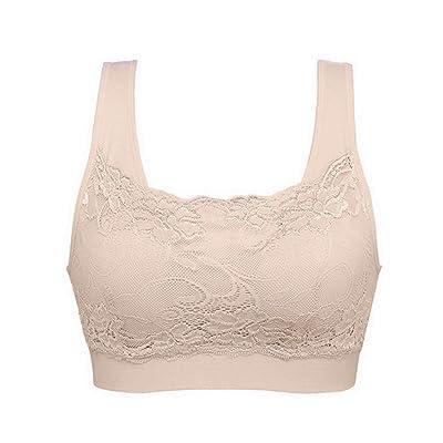Women Lace Comfort Camisoles Bra Overlay Modesty Bra Insert Summer Tops Bras