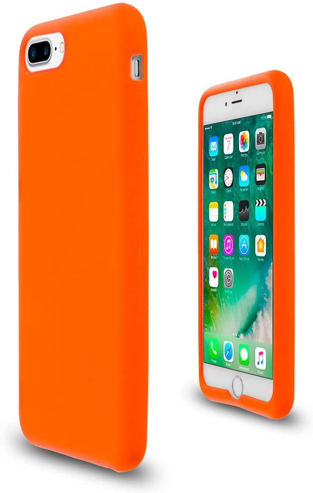 Orange Soft Silicone Rubber Case Flexible Skin Jelly Cover for iPhone 7 Plus