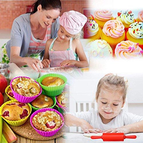 Kids Set Cupcake Baking Silicone Cake Decorating Girls Teenagers