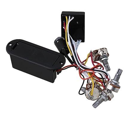 SM SunniMix 2 banda activa eq ecualizador preamplificador de circuito para guitarra eléctrica bajo