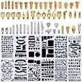 Wood Burning Accessories,65 Pcs Wood Burning Pen Tips,Carving Iron Tip,Stencil Soldering Iron Pyrography Working Carving Engraving Craft Tools for Woodworking, Leather