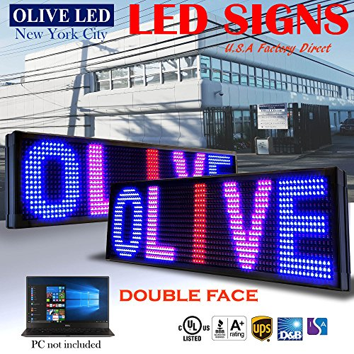 Double Sided Outdoor Led Sign - OLIVE LED Sign 3Color, RBP, 2Face, P26, 19