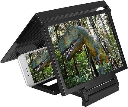 Eboxer Soporte de Pantalla Lupa de Teléfono móvil, 3D Video HD ...