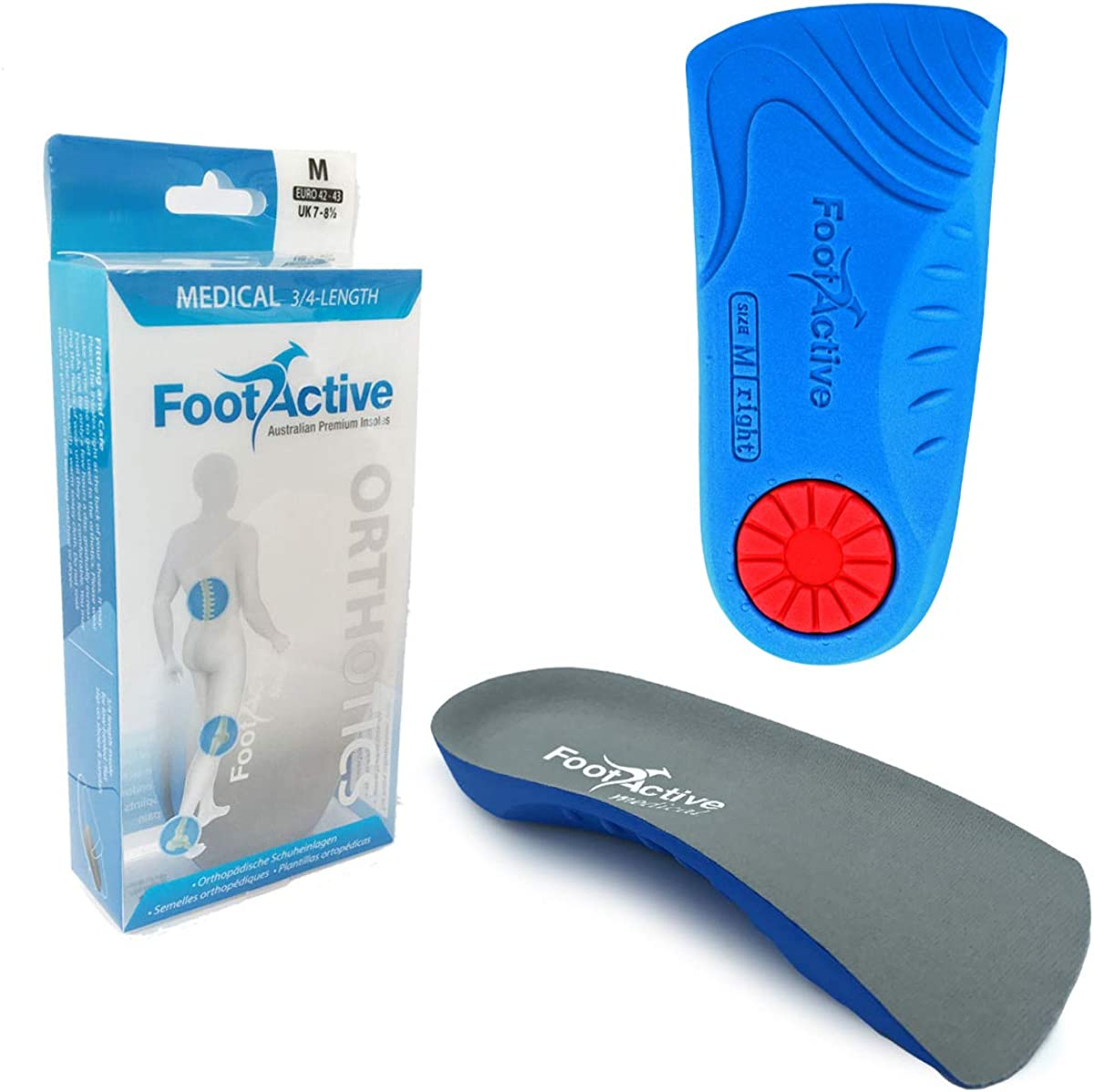 FootActive Médicos 3/4 Longitud Plantillas