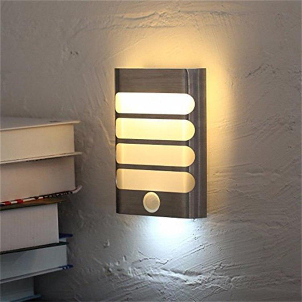 LEDナイトライトモーションワイヤレス赤外線PIRセンサー充電式ウォールランプバッテリー充電式壁ライト寝室、リビング、Showerroom B07CQK9FWX、など。 B07CQK9FWX, ライブデザイン:7102b48d --- ijpba.info