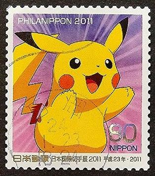 Pikachu Pokémon Dessin Animé Au Japon Fait Main Encadrée