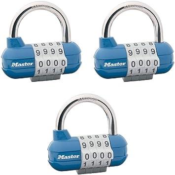 New Version Blue 1 Pack Locker Lock Combination Padlock