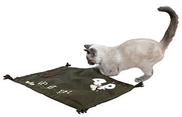Juguete para gatos TRIXIE Manta Juego con borlas 4P 55x37 cms.: Amazon.es: Productos para mascotas