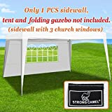 Strong Camel 13'x6.4' Sidepanels for 10'x13' EZ Pop Up Canopy Tent Gazebo Sidewall (1 Pcs with windows)