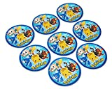 American Greetings Pokémon 8 Dinner Round Plate Large, 8-Count, Lunch Plates-2