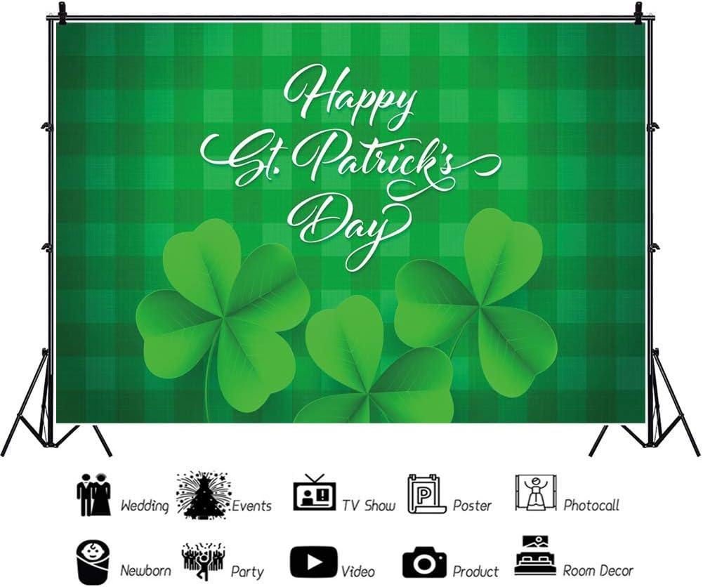 CSFOTO 10x8ft Happy St Patricks Day Backdrop Saint Patricks Day Decor Banner Shamrock Irish Lucky Day Background for Photography Kids Adults Photo Wallpaper