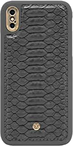 Marvelle N°300 Ash Grey Reptile Gold Compatible with iPhone XR