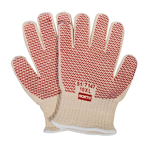 Honeywell North Grip N Hot Mill Nitrile Coated Men's Heat-Resistant Gloves, 7 gauge, Large (RWS-57001) ()
