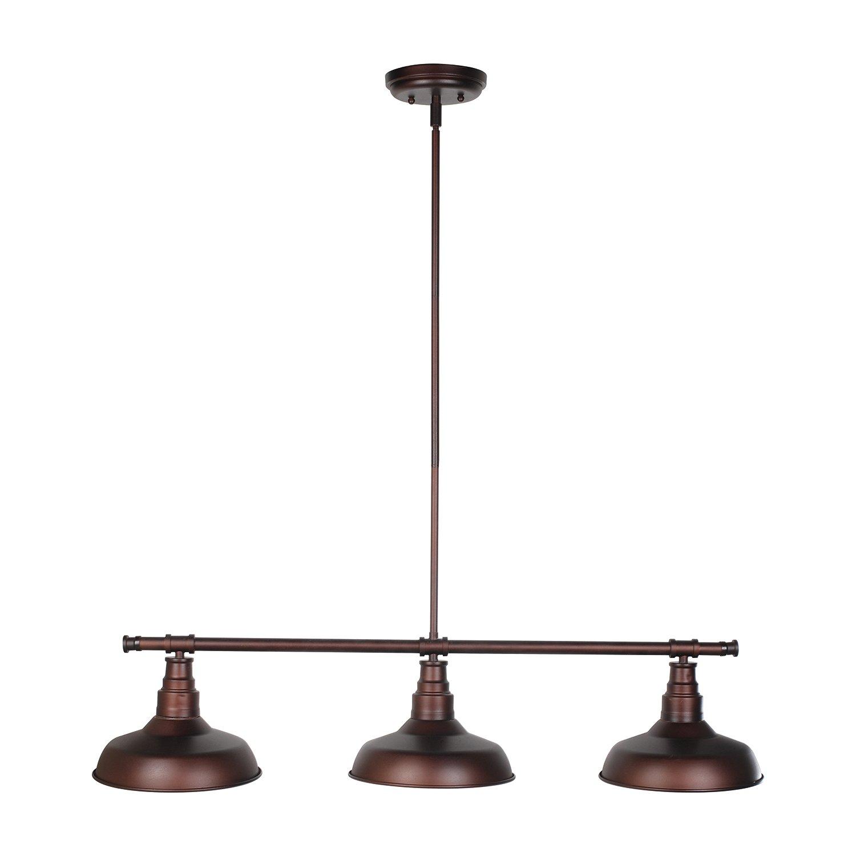 Design House 520387 Kimball 3 Light Pendant, Bronze