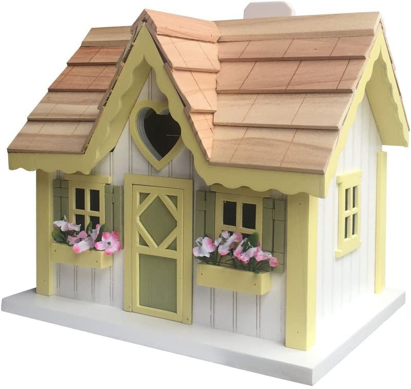 Home Bazaar HB-9516S Sweetheart Cottage Birdhouse, Multi