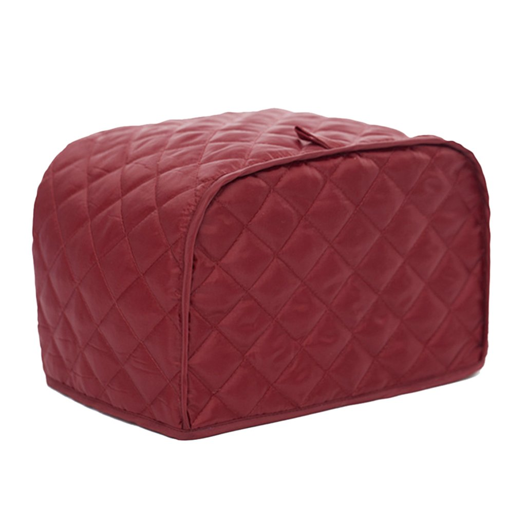 MonkeyJack Toaster Cover, Polyester Toaster Cover for 2 Slice Toaster to Keep Toaster Free From Dust, Fingerprint (11.5 x 8 x 8, Red)