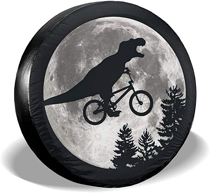 New Century Jurassic-Park Sun Protector Tire Cover Waterproof Tire Cover Tire Spare Cover Suitable for Trucks Trailers Suvs Jeep and Many Vehicles 14-17 in