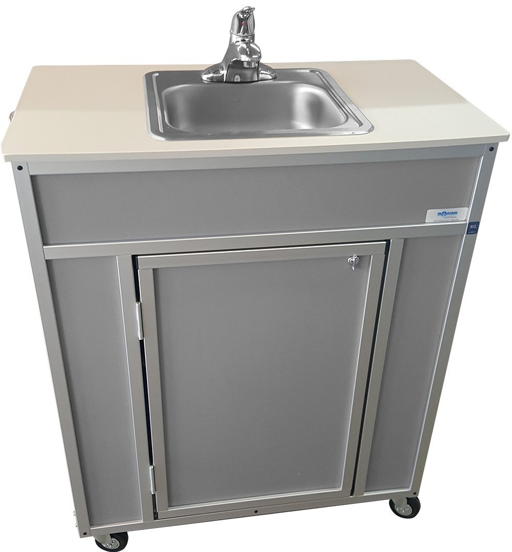 Monsam NS-009S NSF Certified Single Basin Self Contained Portable Sink, Grey by Monsam Enterprises