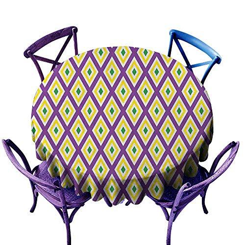 familytaste Mardi Gras,Outdoor Picnics Round Tablecloth D 36
