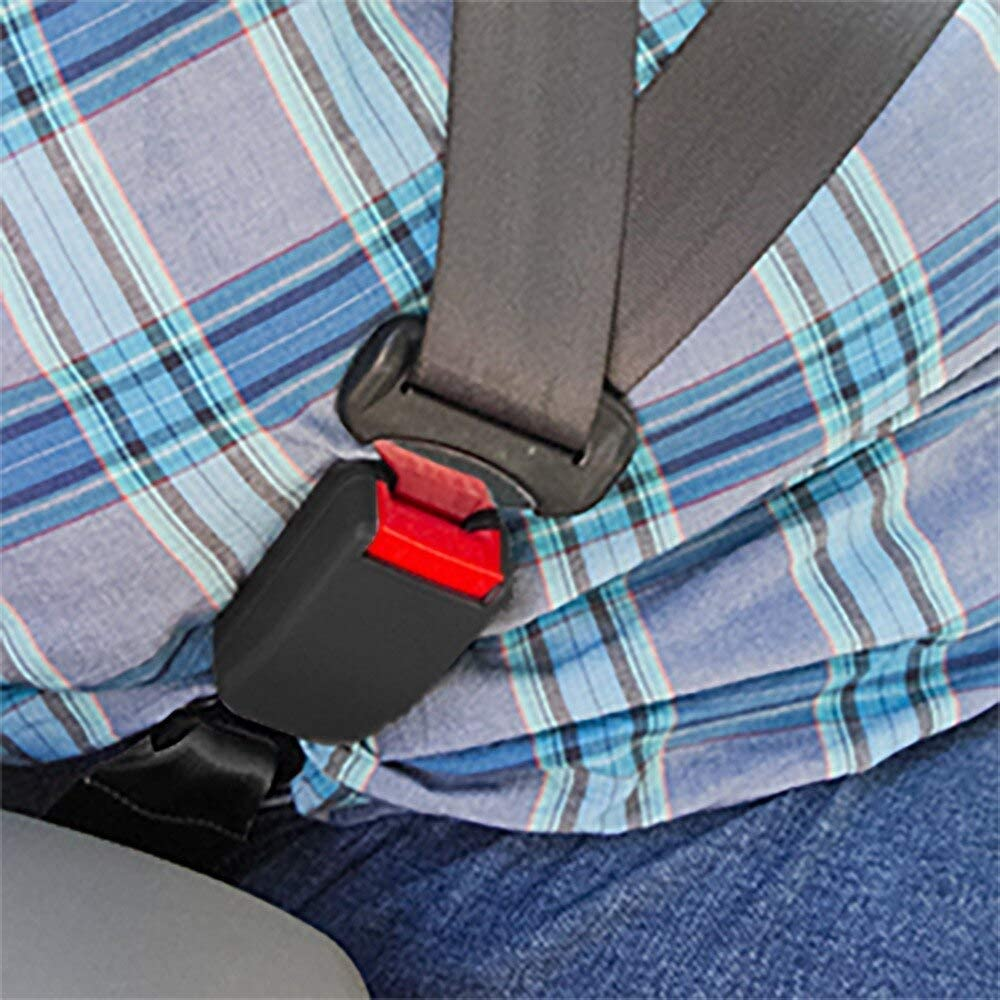 7//8 Metal Tongue Width Regular 10 Seat Belt Accessory Extender Black, 1-Pack E-Mark Safety Certification Buckle Up and Drive Safely Again Type A