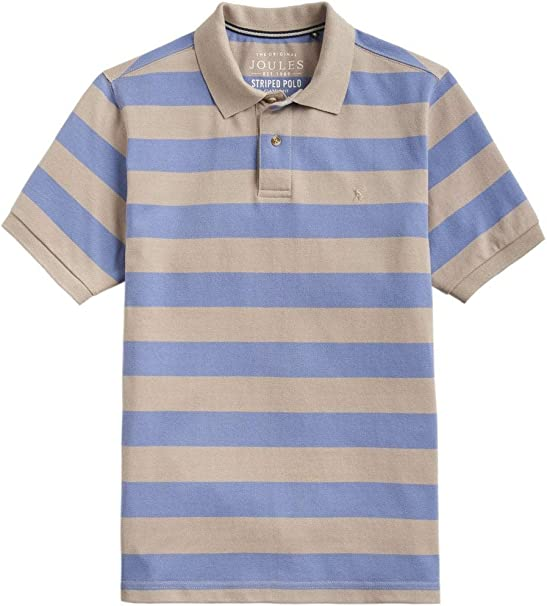 Joules Mens Woody Classic Fit Polo in TAUPE