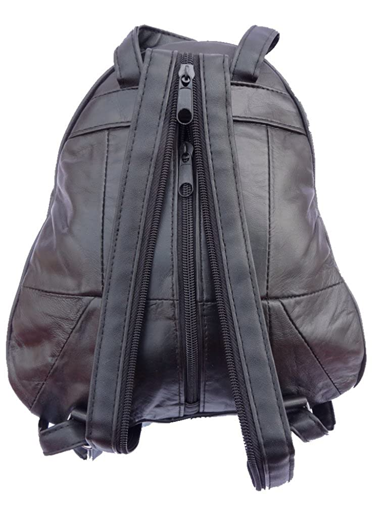 c3ab1004ea Soft Leather Ladies Womens Backpack Rucksack Handbag Quenchy Q948   Amazon.co.uk  Shoes   Bags