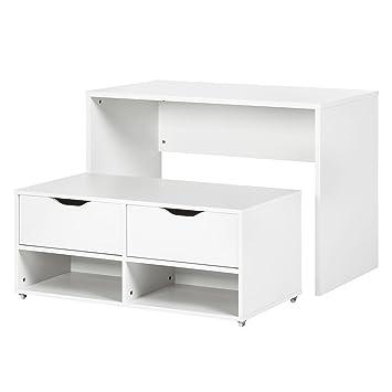 Platzwunder Schreibtisch Esstisch Kommode Tisch Set Bank Sitzbank