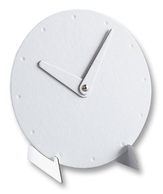 zum spielerischen Erlernen der Uhrzeit Lernuhr aus Karton zum Bemalen folia 2300