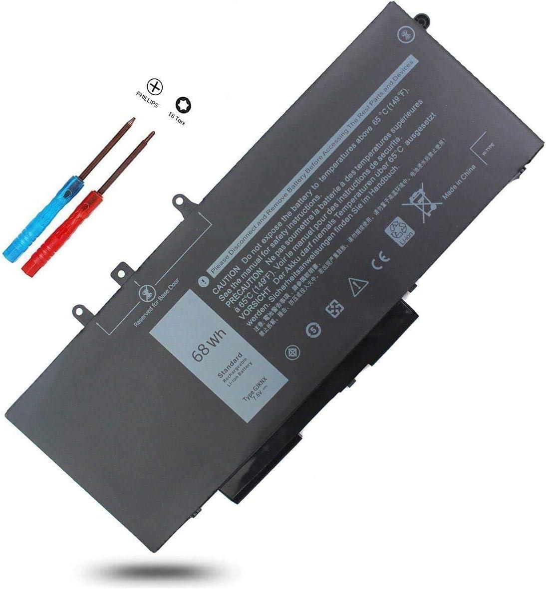 451-BBZG GJKNX Laptop Battery for Dell Latitude 5590 5480 5580 5280 5490 5491 5591 E5480 E5580 E5490 E5590 E5491 E5591, Precision 15 3520 3530 M3520 M3530,GD1JP 5YHR4 DY9NT FPT1C KCM82 0GJKNX 0GD1JP