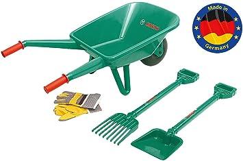 Theo Klein-2752 Bosch Set De Jardineria Con Carrito De Jardinero, 4 Piezas, Juguete, Multicolor (2752)
