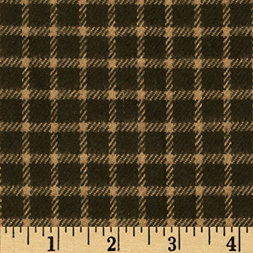 Primo Plaids Flannel Christmas II Small Check Oliv (Plaid Flannel Primo)