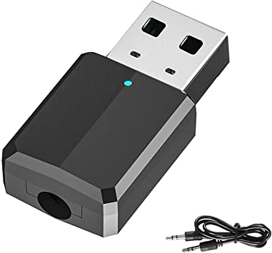 DLseego Adaptador Bluetooth V5.0 USB Dongle, Transmisor Receptor Bluetooth Adaptador para TV/PC (Cable de Audio de 3,5 mm) para Auriculares, Altavoces y Home Sistemas Estéreo de Coche: Amazon.es: Electrónica