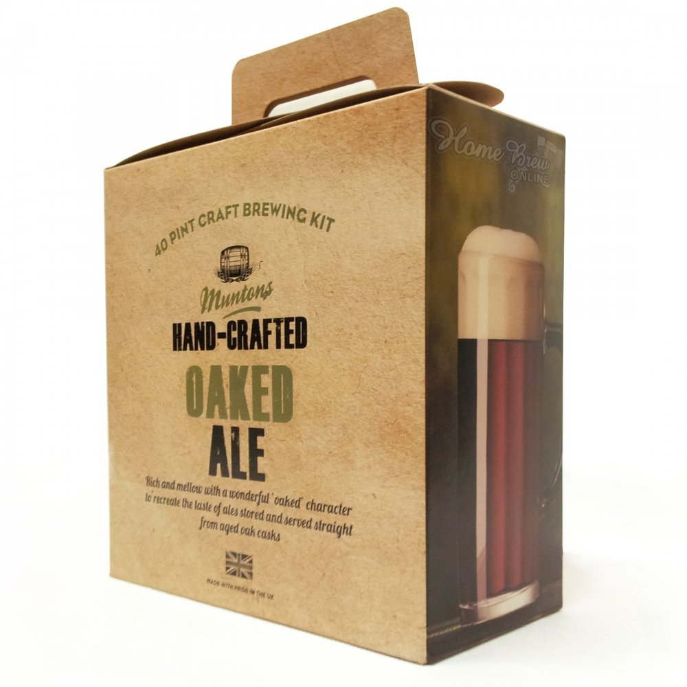 Homebrew - Muntons Hand-Crafted 3.5kg - Oaked Ale - Ingredient Kit Balliihoo Homebrew